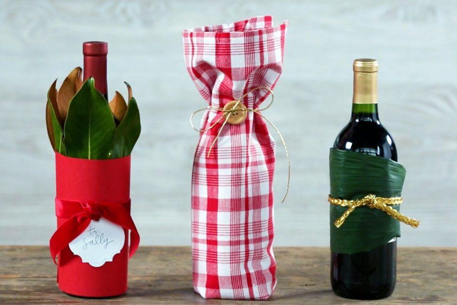 Gift Wrap A Wine Bottle